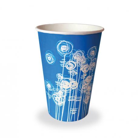 Aqua Swirl Paper Cup